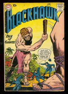 BLACKHAWK COMICS #137 1959-ISLE OF GIANTS-DC COMICS VG+