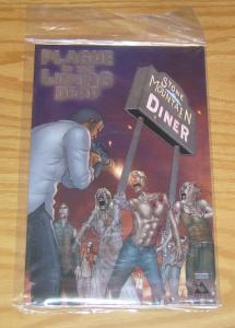 Plague of the Living Dead #1 VF/NM platinum variant in bag with COA (only 550)