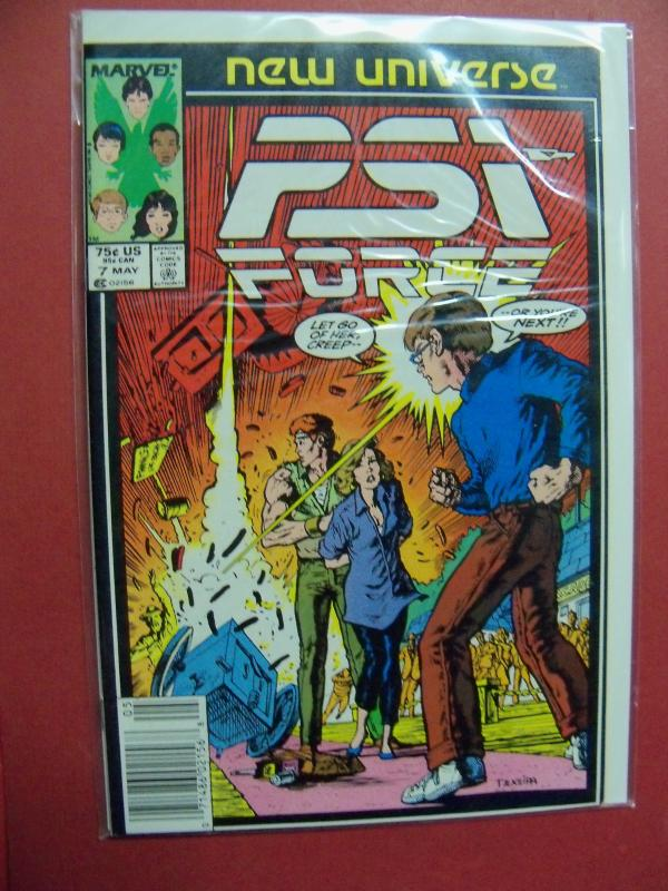 PSI FORCE NEW UNIVERSE #7    (9.0 to 9.4 or better)  MARVEL COMICS
