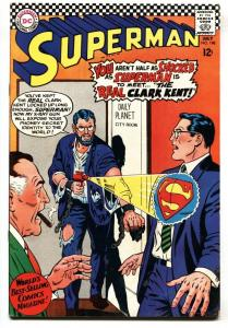 SUPERMAN #198 1967-DC COMICS-GLOSSY COVER-RAY GUN VG/FN