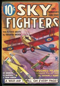 SKY FIGHTERS 6/1935-AIR WAR PULPS-WWI-BI-PLANE-fn minus