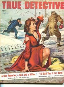 TRUE DETECTIVE-FEB 1957-FN-MURDER-KIDNAP-RAPE-STRANGLING-JOE LITTLE COVER FN