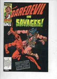 DAREDEVIL #202 NM-  Murdock, Savages, 1964 1984, more Marvel in store