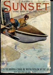 Sunset 4/1914-pulp format-historic art & ads-Panama Canal-P