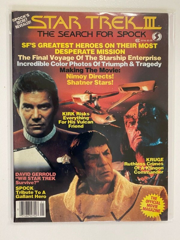Star Trek 3 The Search for Spock Starlog Group #1 H20 Damage 4.0 VG (1984)