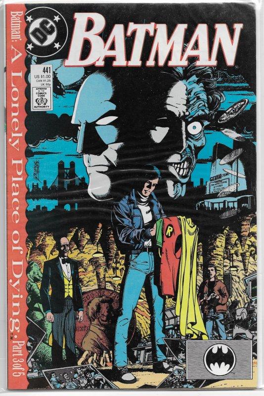 Batman   vol. 1   #441 VG (Lonely Place of Dying 3) Wolfman/Perez/Aparo