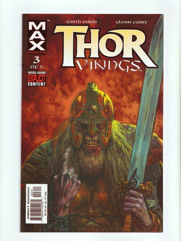 Thor Vikings 1 - 5 Complete Set Marvel MAX Comics 2003 Series NM+