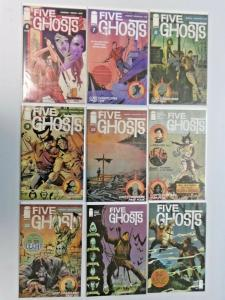 Five Ghosts run #6 to #14 9 different books 8.5 VF+ (2013)