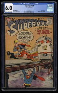 Superman #123 CGC FN 6.0 1st Supergirl tryout!