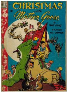 CHRISTMAS WITH MOTHER GOOSE  F.C 253 FR-G 1949 KELLY COMICS BOOK