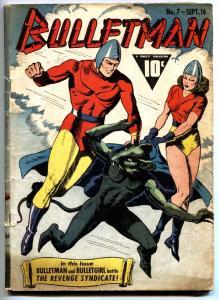 Bulletman #7-1942-Bulletgirl fight the Black Rat-Golden-Age comic book