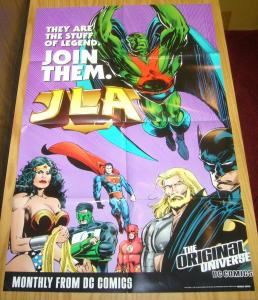 JLA promo poster 8095B - justice league of america 1998 dc comics original