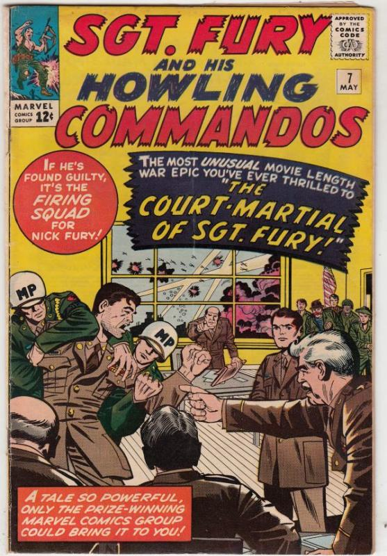 Sgt. Fury and His Howling Commandos #7 (May-64) VG/FN+ Mid-Grade Sgt. Fury, D...