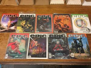 Lot Of 9 EPIC Illustrated Marvel Comic Book Magazines # 9 17 26 27 29 30 ++ TWT1
