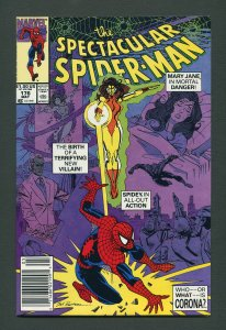 Peter Parker,Spectacular Spiderman #176 / 9.2 NM-  May 1991