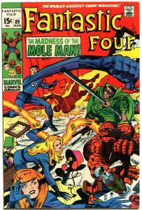 FANTASTIC FOUR #89, VF+, Mole Man, Jack Kirby, 1961, more FF in store, QXT