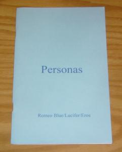 Personas #1 VF/NM romeo blue - sdcc exclusive - numbered (#57 of 100) poetry