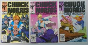 Chuck Norris Karate Kommandos, Near Set:#1-3 Missing#4, Average 8.0/VF (1987)