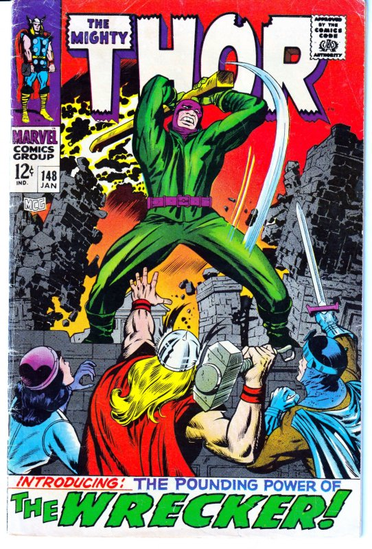 Thor(vol. 1)#148 1st APP. OF THE WRECKER