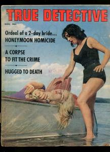 TRUE DETECTIVE-11/1963-ICE COFFIN-RAPED-BLOODSTAINED AXE-HONOR ROLL VG