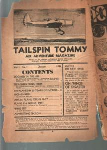 Tailspin Tommy Air Adventure Magazine #1 10/1936-CJH-Hal Forrest-P/FR