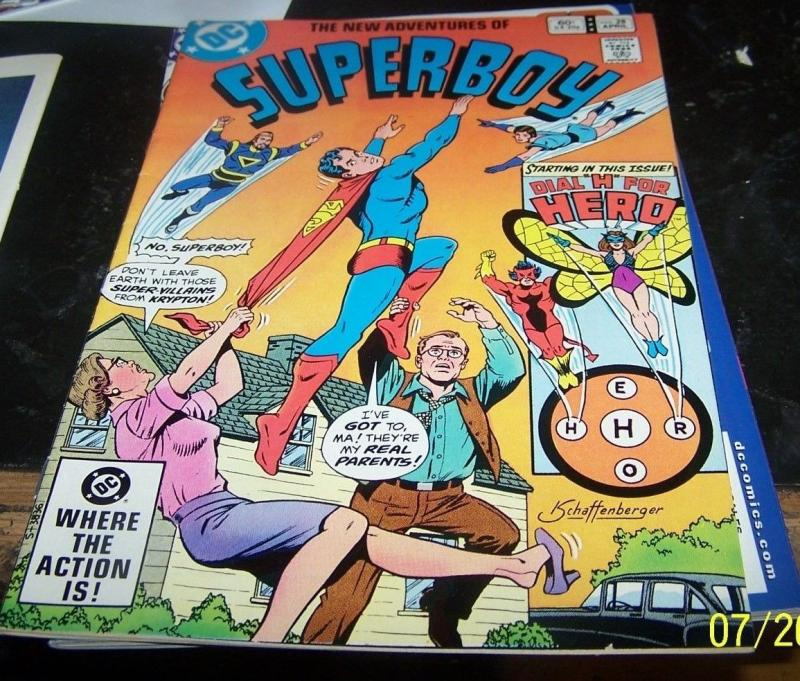 The New Adventures of Superboy #28 (Apr 1982, DC) dial h for hero