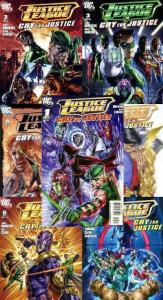 JUSTICE LEAGUE CRY FOR JUSTICE (2009) 1a,2-7  COMPLETE!