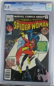 SPIDER-WOMAN #1 (Marvel,4/1978) CGC 9.8 Origin of Spider-Woman