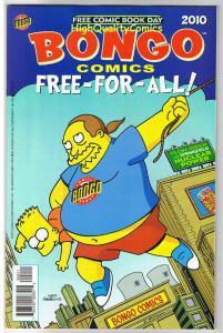 BONGO COMICS FREE-FOR-ALL, NM, Simpsons, Krusty, FCBD, 2010, more Bongo in store