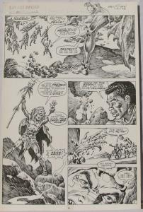 ERNIE CHAN Published Original Art SAVAGE SWORD of CONAN #150 pg 11, Signed