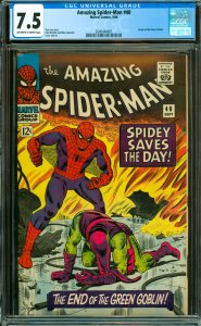 Amazing Spider-Man #40 CGC Graded 7.5 Origin of the Green Goble.