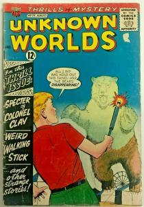UNKNOWN WORLDS#25 VG 1963 ACG SILVER AGE COMICS