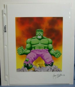 Artist GARY MARTIN AUTOGRAPHED 8.5 x 11 Print INCREDIBLE HULK Marvel Comics L@@K