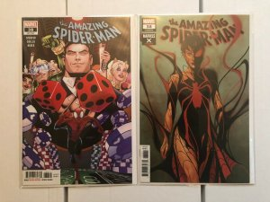 Amazing Spider-Man 38 Cover A and Marvel X Variant
