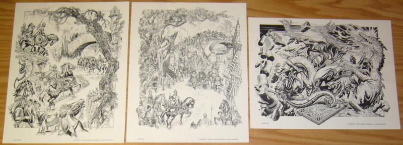 Burne Hogarth's King Arthur Portfolio vol. 1 limited to 1,500 copies! 1983 set