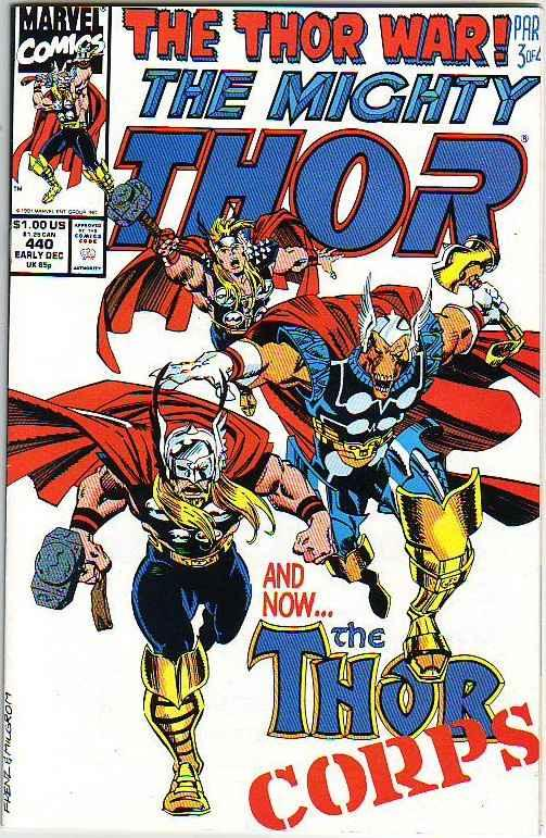 Thor, the Mighty Signed #440 (Dec-92) NM- High-Grade Thor