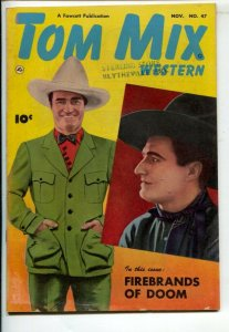 Tom Mix Western #47 1951-Fawcett-Photo cover-Carl Pfeufer story art-FN-