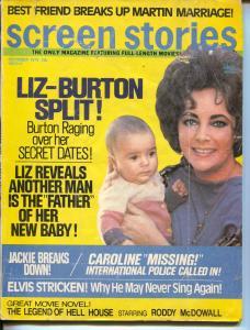 Screen Stories-Liz Burton-Dean Martin-Jackie Kennedy-Oct-1973