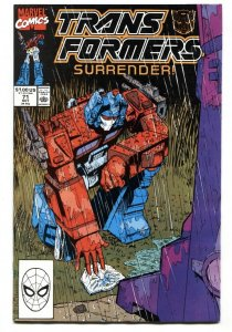 Transformers #71 1990 Later issue Marvel comic book