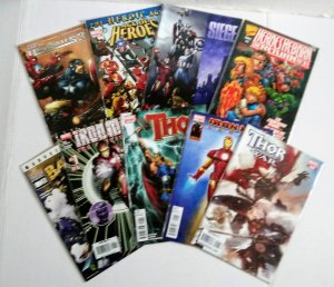 Marvel Comic Book Lot of (9) Captain America! Hulk! Thor! Iron-Man! ID#00