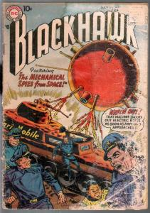 Blackhawk #124 1958-DC-Spies From Spage-lower grade-P