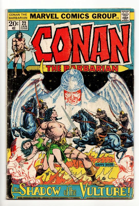 Conan the Barbarian #22 (Marvel, 1973) VG