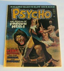 Psycho #7 1972 Horror Magazine VF/VF+ High Grade Frozen Hell Terror & Suspense