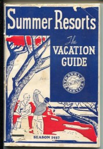 Summer Resorts Vacation Guide 1937-golf cover-175 pages-pix-ads-resort info-G/VG