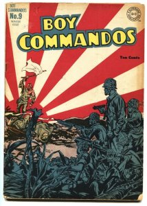 BOY COMMANDOS #9-Jack Kirby art-Japanese Surrender cover WWII