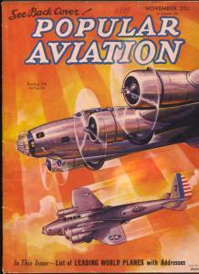 Popular Aviation 11/1935-Boeing 209-Flying Wing-H.R. Bollin-VG
