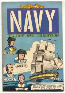 Navy History and Tradition 1772-1778- comic book