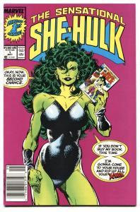 SENSATIONAL SHE-HULK #1 comic book-1989-First issue