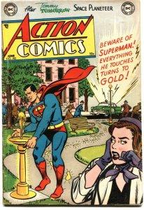 ACTION #193-1954---SUPERMAN---CONGO BILL---VIGILANTE---TOMMY TOMORROW---DC FUN!