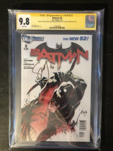 Batman New 52 #3 - CGC 9.8 Signed by Syner, Capullo & Glapion
